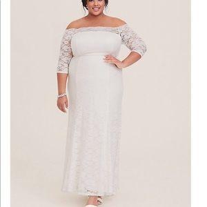 Torrid plus size wedding dress